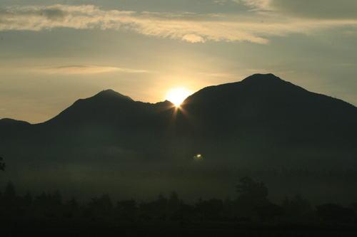 小田代で見た日の出